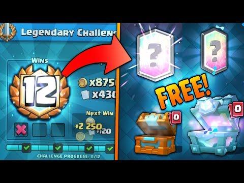 x2 FREE LEGENDARIES! 12 WINS LEGENDARY CHALLENGE DECK! | Clash Royale | BEST CHEST OPENINGS EVER!