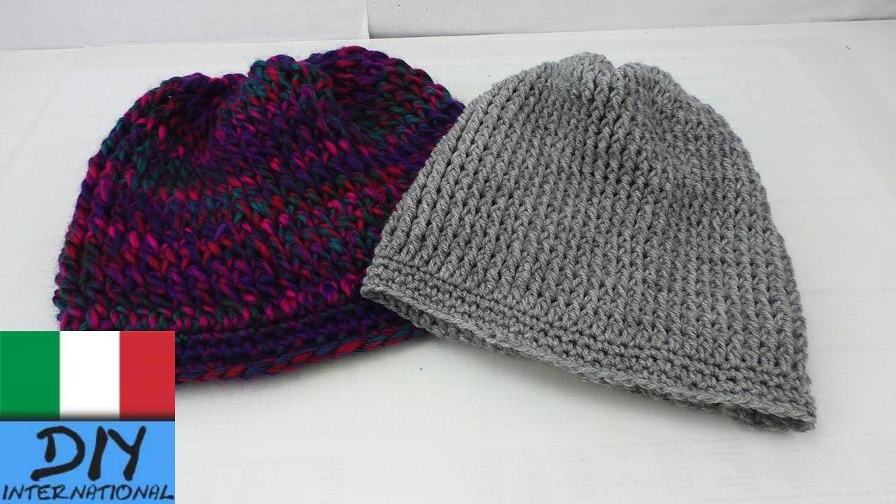 Berretto Lungo Ad Uncinetto Beanie Crochet Guida Per Principianti
