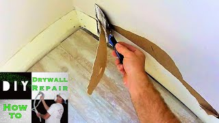 How to Repair Drywall Damage After Baseboards Were Removed