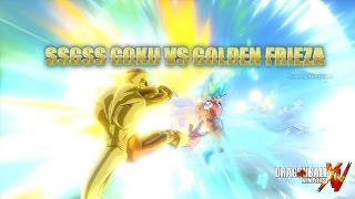 Dragon Ball Xenoverse: SSGSS Goku VS Golden Frieza (Fukkatsu No F Special )