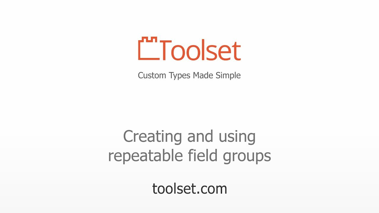 Creating and using repeatable field groups