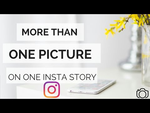 How to add multiple images to instagram story