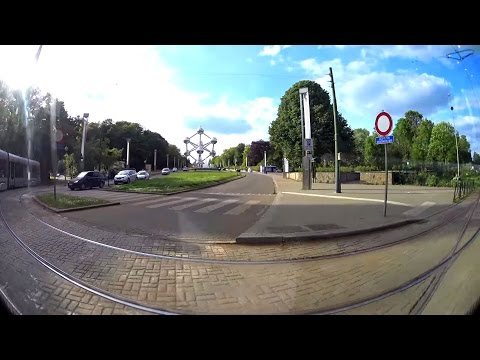 1 hour | The Brussels Tram Route 7 - Whole Tramline