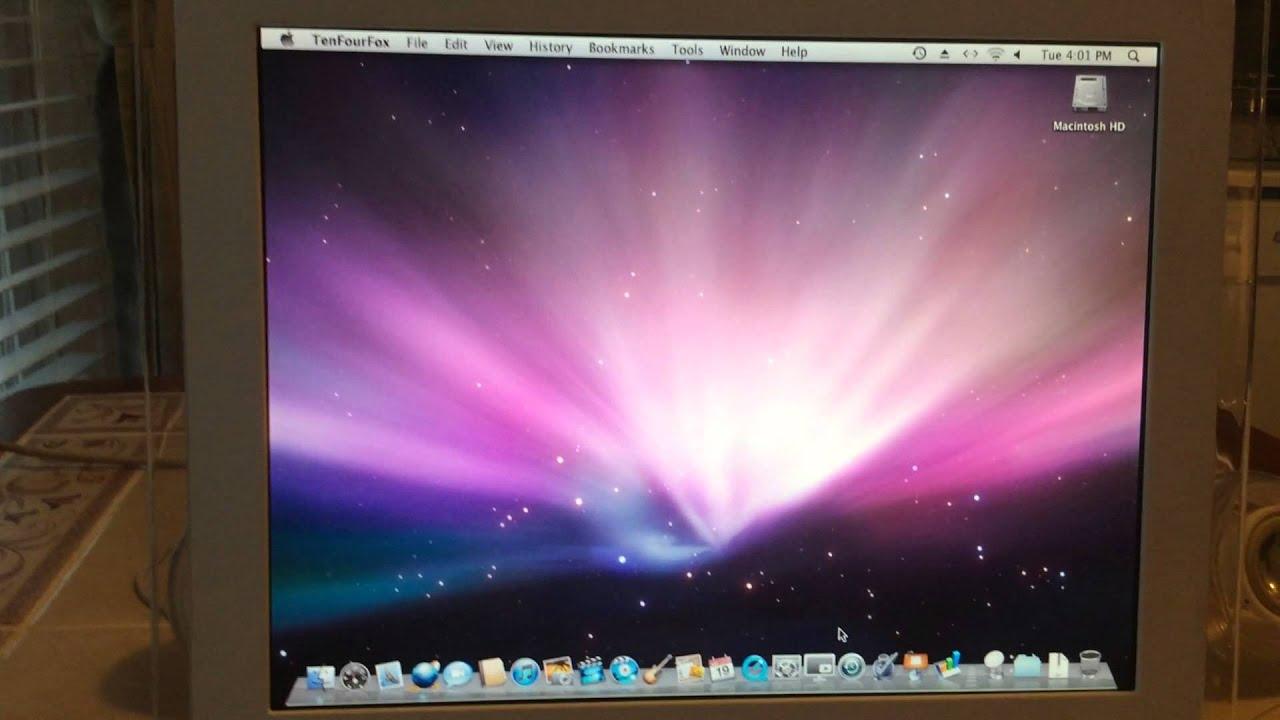 install mac os x 10.5 imac g4