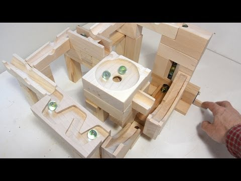 Marble run blocks - simplified construction