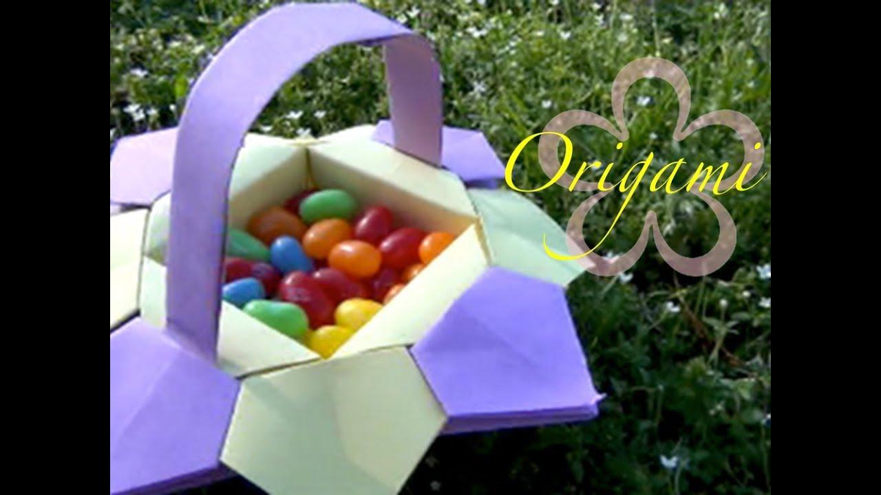 origami meiiris easter origami basket tutorial youtube