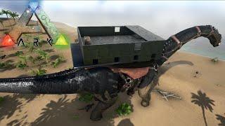 Una Casa Encima De Mi Dinosaurio !! WTF ! - ARK Survival Evolved