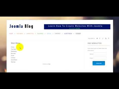 How To Add A Sitemap To On Joomla 3 Website