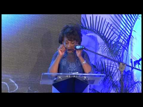 Congress Woman Maxine Waters - PNP Gala Dinner  to honour  Portia Simpson Miller