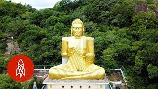 Explore Sri Lanka's Cave of Golden Buddhas