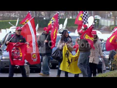 FRANCE: VIGIL FOR SCHUMACHER'S 45TH BIRTHDAY