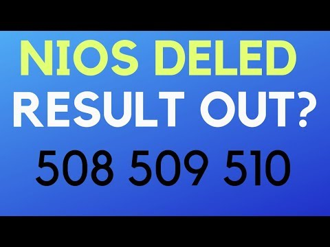 Fact Check: NIOS Deled 508 509 510 Result 2019 Out?? - YouTube