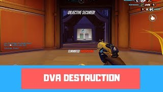 D.VA DESTRUCTION - Overwatch Ranked Season 11 Gamplay