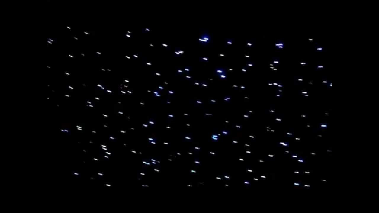 Fiber optic star ceiling - YouTube