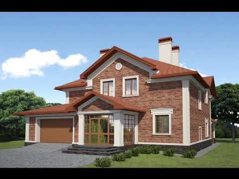 Как красиво сделать фасад кирпичного дома?
