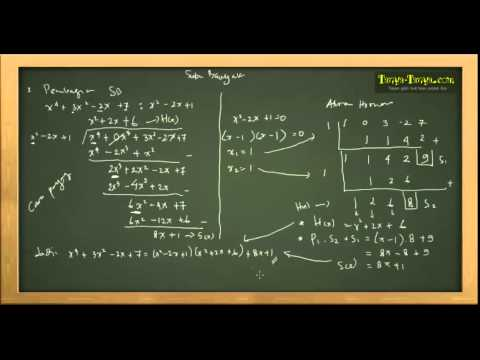 Belajar Matematika : Suku Banyak/Polinom