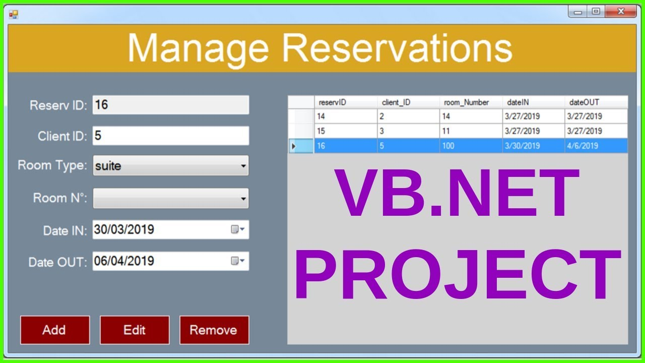 VB Net Project Tutorial for Beginners - Full VB Net Programming Project  Course [ WITH SOURCE CODE ]