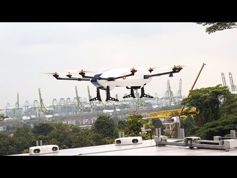 Airbus' drone delivers parcels throughout this university campus | CNBC International