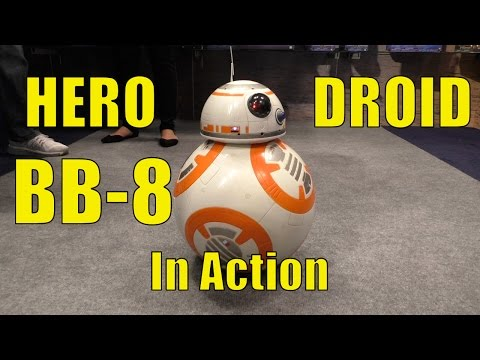STAR WARS Hero Droid BB-8, IN ACTION at Toy Fair 2017, First Look