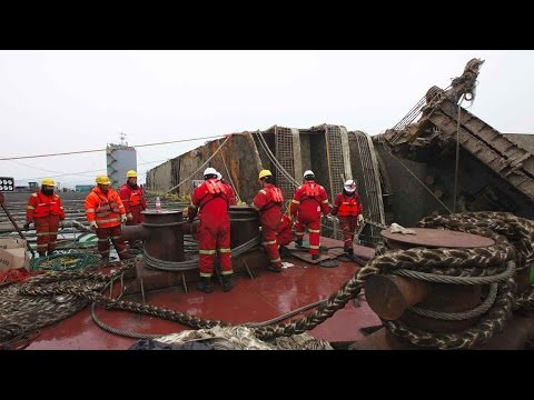 Three years later, South Korea prepares to move sunken Sewol ferry to port