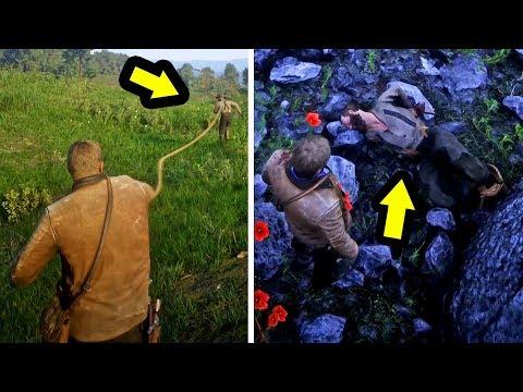 أغضبني فرميته وسط غابة ممتلئة بالذئاب لعبة ريد ديد ريدمبشن 2   RDR 2 Kidnapping NPC's