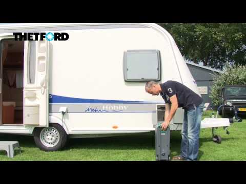 How to empty the waste tank of the Cassette toilet of your caravan or motorhome