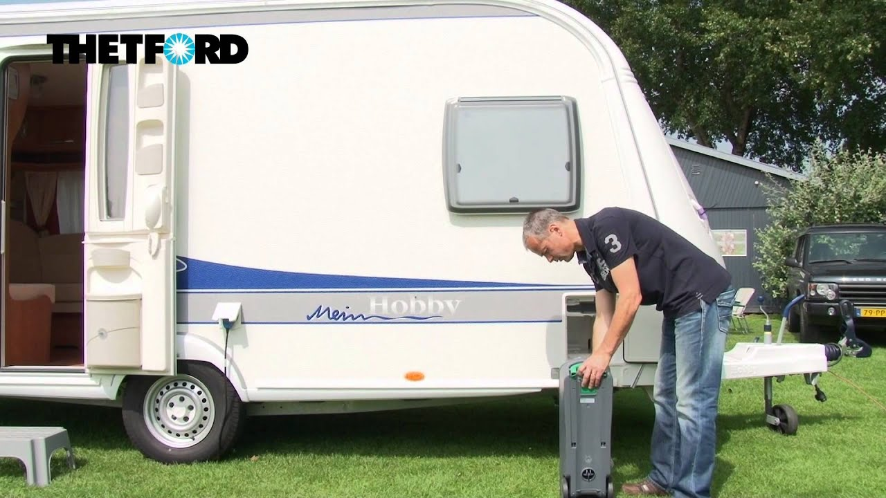 How to empty the waste tank of the Cassette toilet of your caravan ...