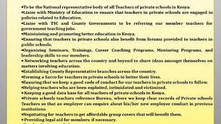PRIVATE SCHOOLS TEACHERS ASSOCIATION [K]