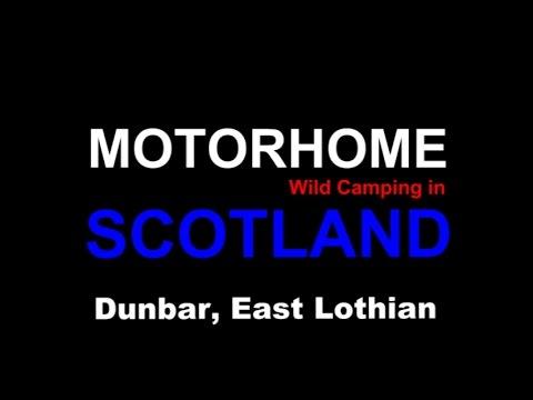 Motorhome Wild Camping at Dunbar Harbour, East Lothian
