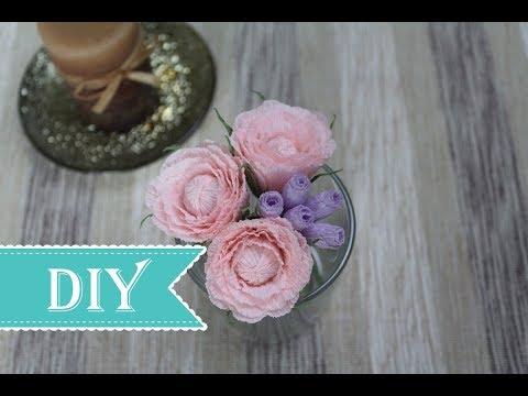 How to Make Peony (Rose) Paper Flower - DIY Tutorial
