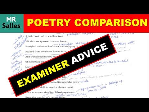 Examiners Advice for Comparing Poems: How to Choose Which Poems to Compare (Power and Conflict)