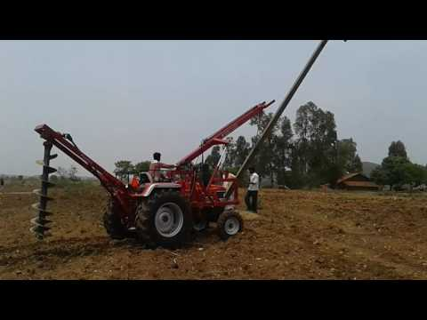 Pole erection and Hole Digger - www.groupsurya.co.in