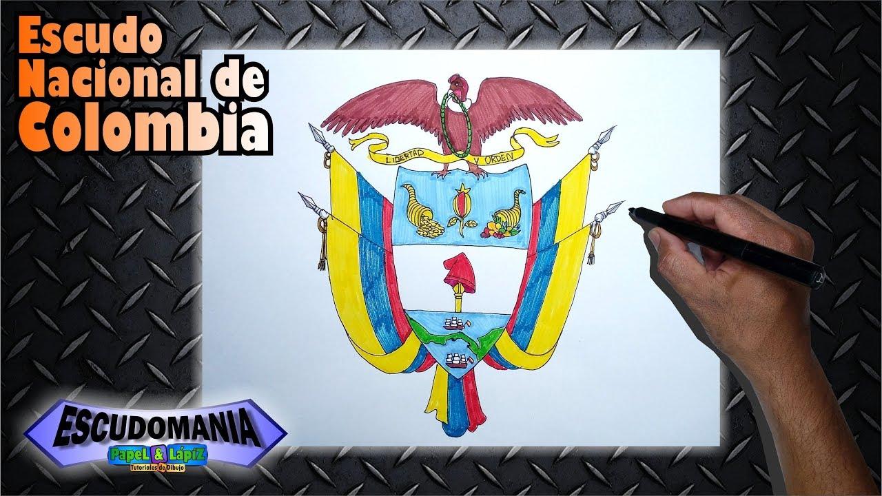 Aprende A Dibujar Y Pintar El Escudo Nacional De Colombia