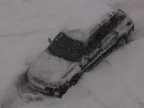 SUBARU и снег. Санкт-Петербург.