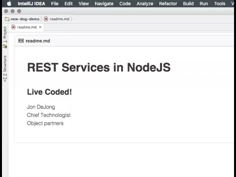 Rest Services with Node, Mongo, & Express