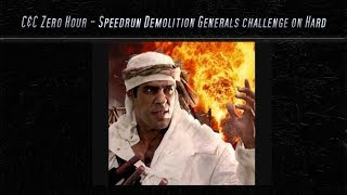 [C&C Zero Hour] Speedrun - Demolition Challenge on Hard Mode