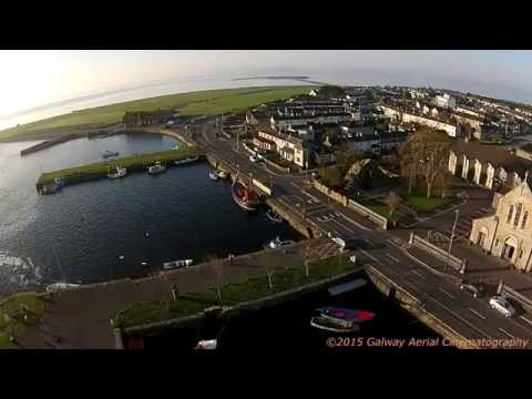 Aerial View Galway City To Connemara