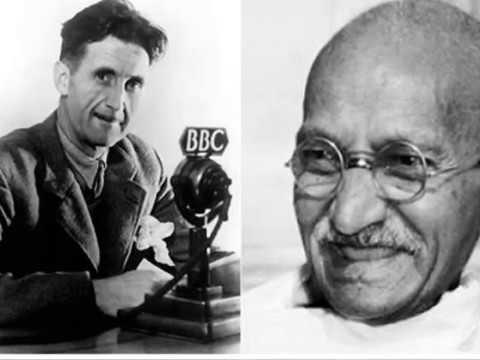 George orwells views on gandhi