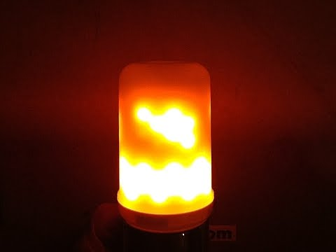 Amazing new realistic flame effect LED lamp. (Full original version.)
