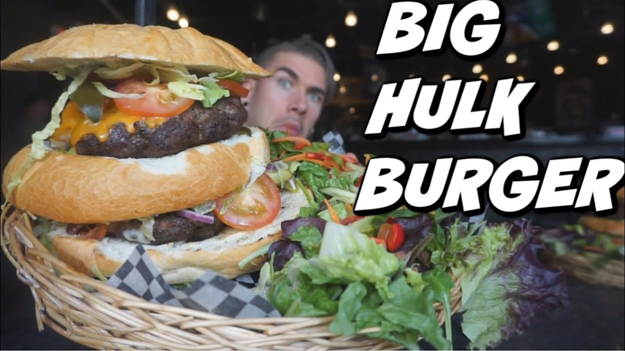 GIANT HULK BURGER CHALLENGE | Canadian Burger Challenge | Alberta Beef | Man Vs Food