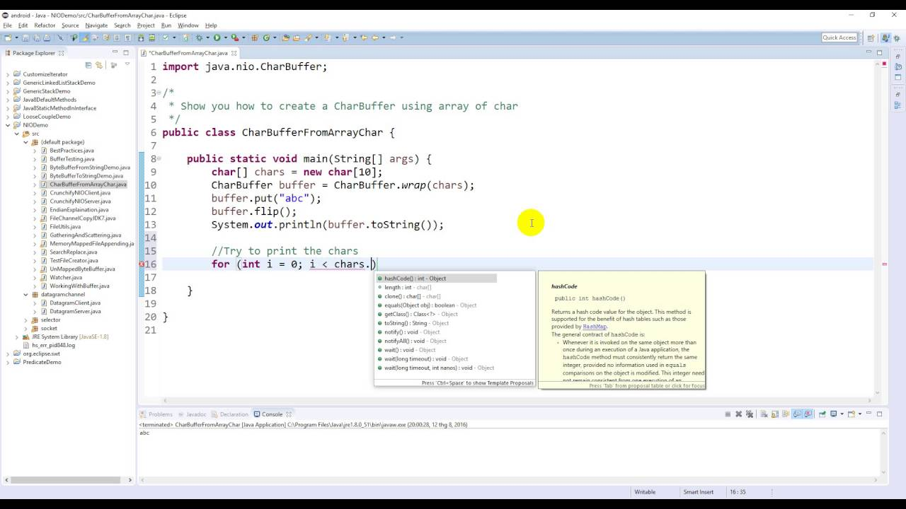 Java nio create a charbuffer from array of char youtube java nio create a charbuffer from array of char baditri Images