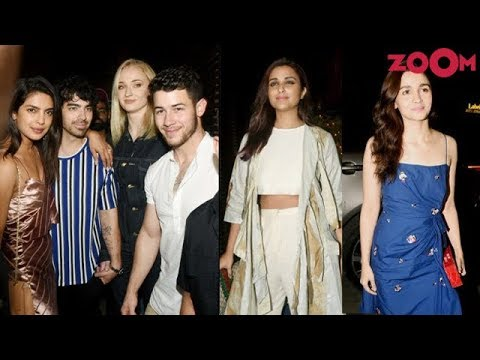 Priyanka Chopra & Nick Jonas spotted with Sophie Turner, Alia Bhatt & Parineeti Chopra for dinner