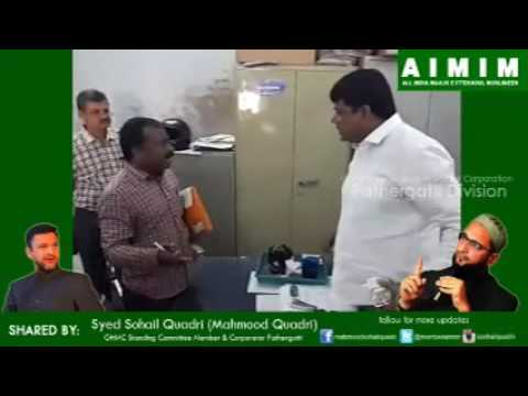 Mahmood Sohail Quadri Scolds GHMC Officer for Negligence to the Request