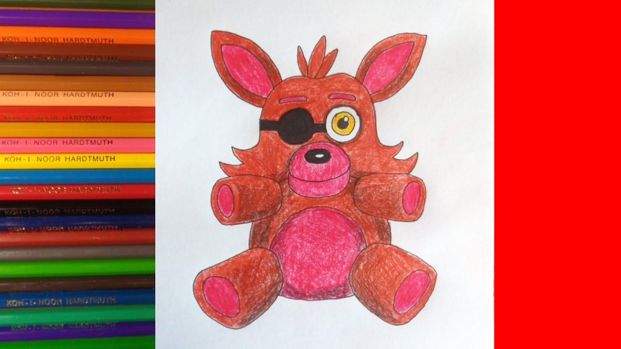 How To Draw Foxy Plush Fnaf Kak Narisovat Plyushevogo Foksi Youtube