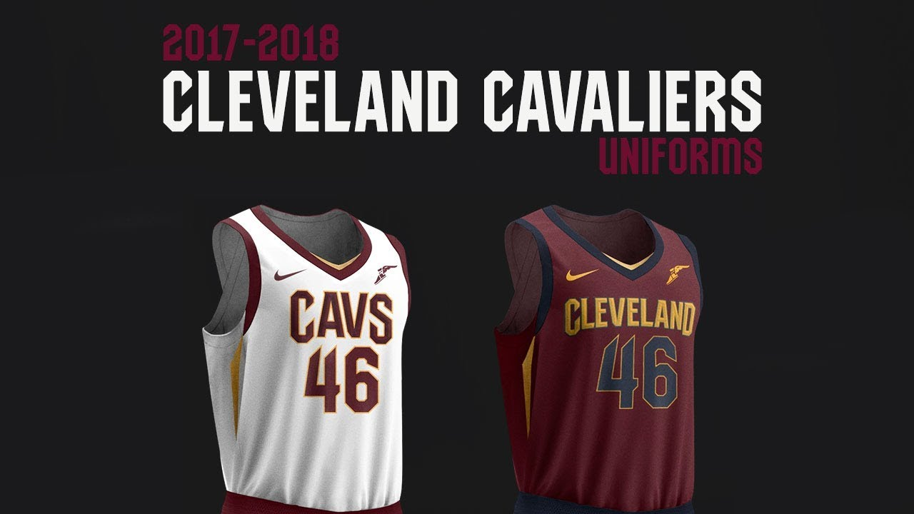 7a32f1dbc41 Cavaliers Unveil All New Nike Uniforms - YouTube
