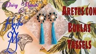 Aretes con Borlas (Tassels) Alambrismo DIY