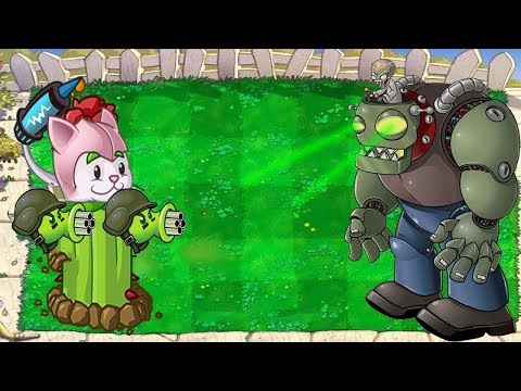 1 PeaShooter Cactus vs 9999 Gargantuar Zombie - Hak Plants vs Zombies