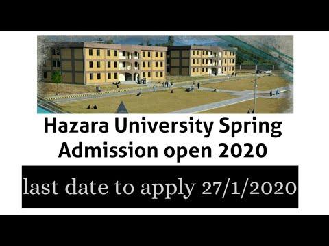 Hazara University Of Mansehra Spring Admission Open 2020||HU Last Date To Apply