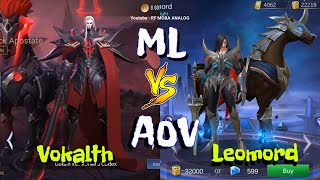 MLBB VS AOV Hero Comparison | Mobile Legends VS Arena Of Valor Newest Base on Skill and Look