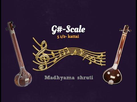 Tanpura G# Scale( Madhyama Shruthi)